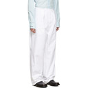 Raf Simons White Heroes and Losers Wide Fit Trousers