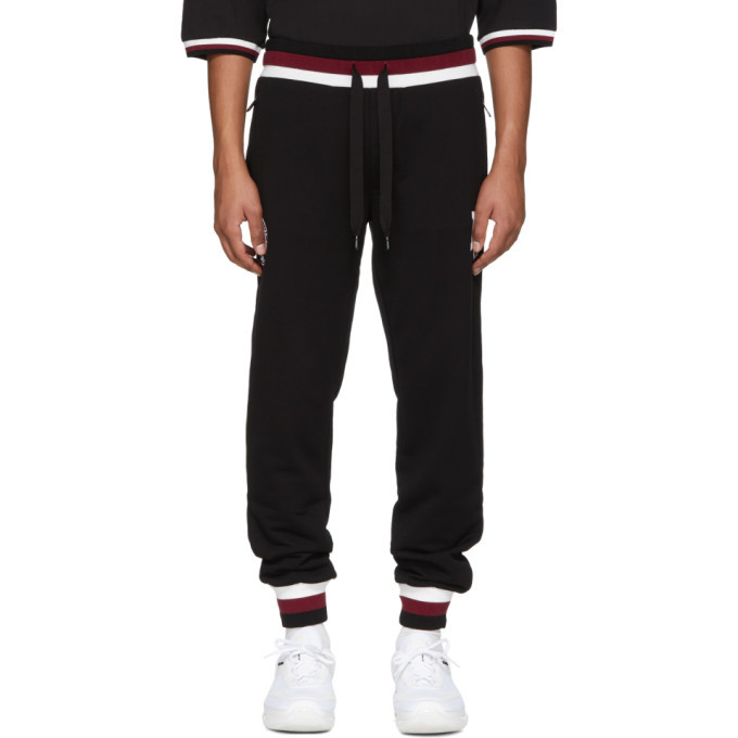 Photo: Dolce and Gabbana Black Logo Sweatpants