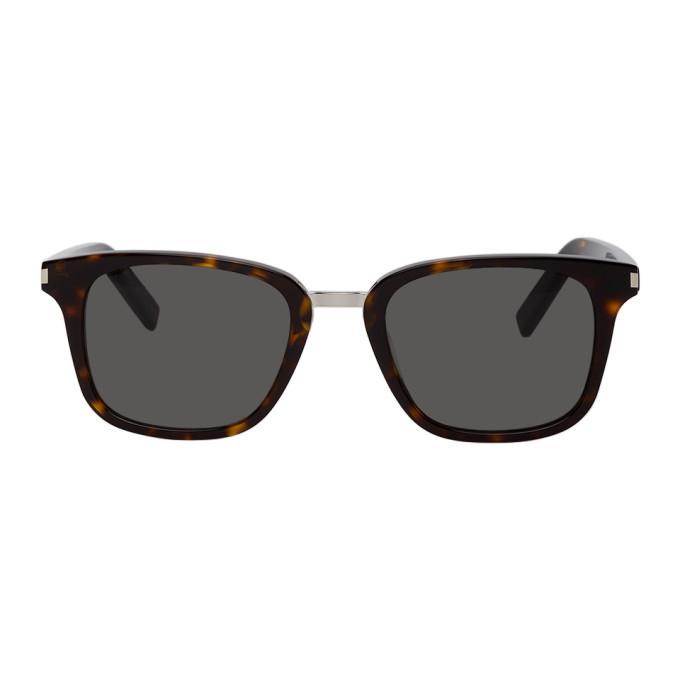 Photo: Saint Laurent Tortoiseshell Square SL 341 Sunglasses