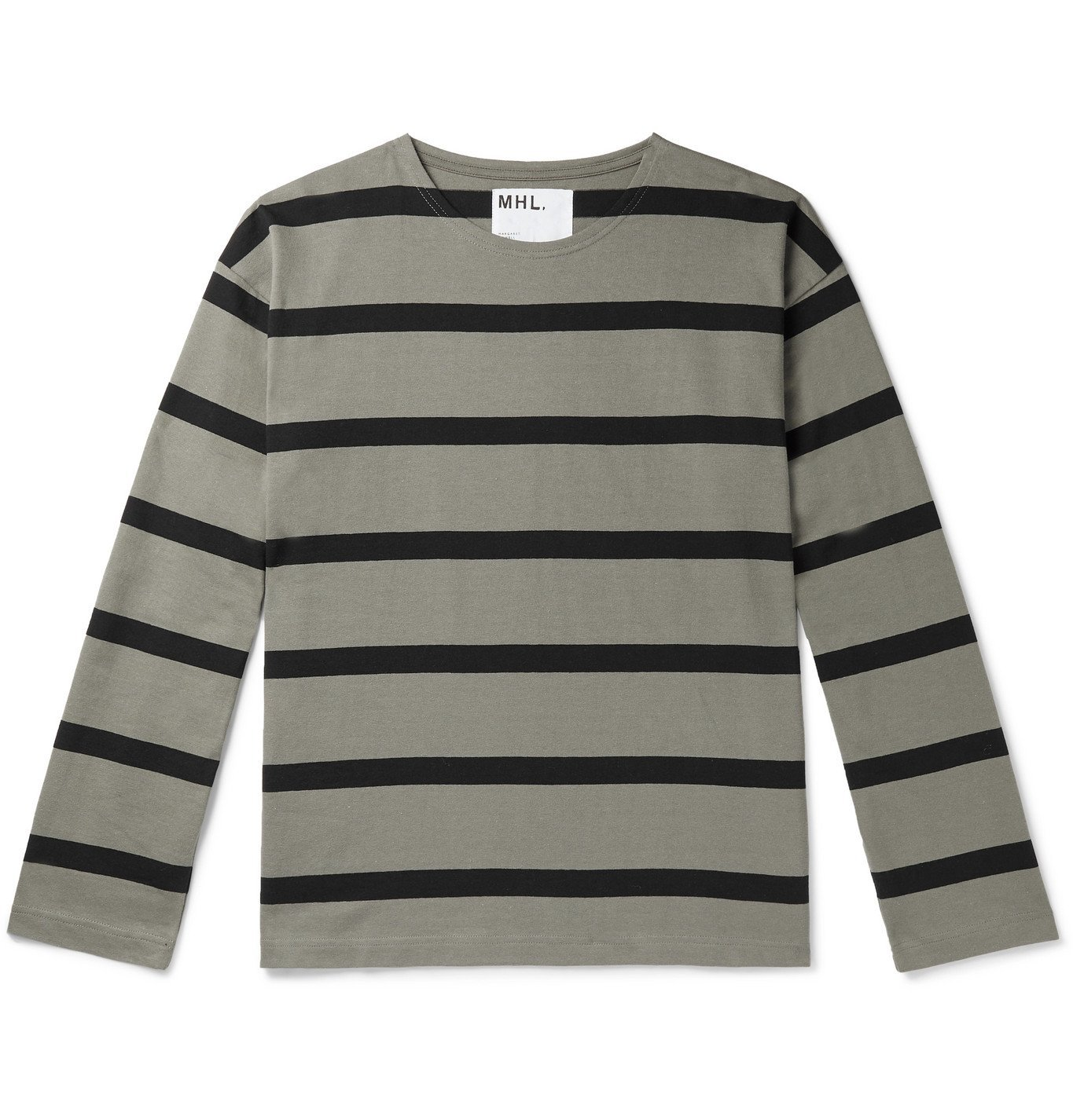 Photo: Margaret Howell - Striped Cotton-Jersey T-Shirt - Gray
