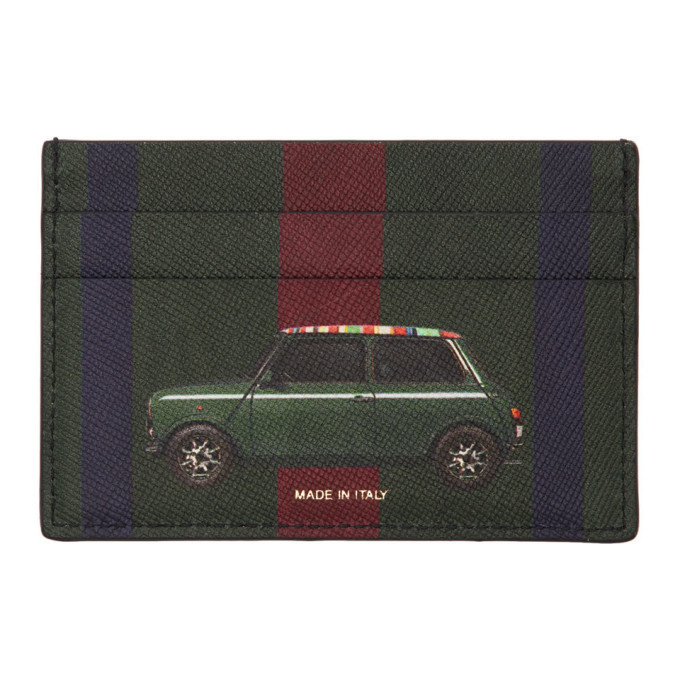 Photo: Paul Smith Green Striped New Mini Card Holder