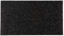 Slash Objects Black Rectangle Floor Mat