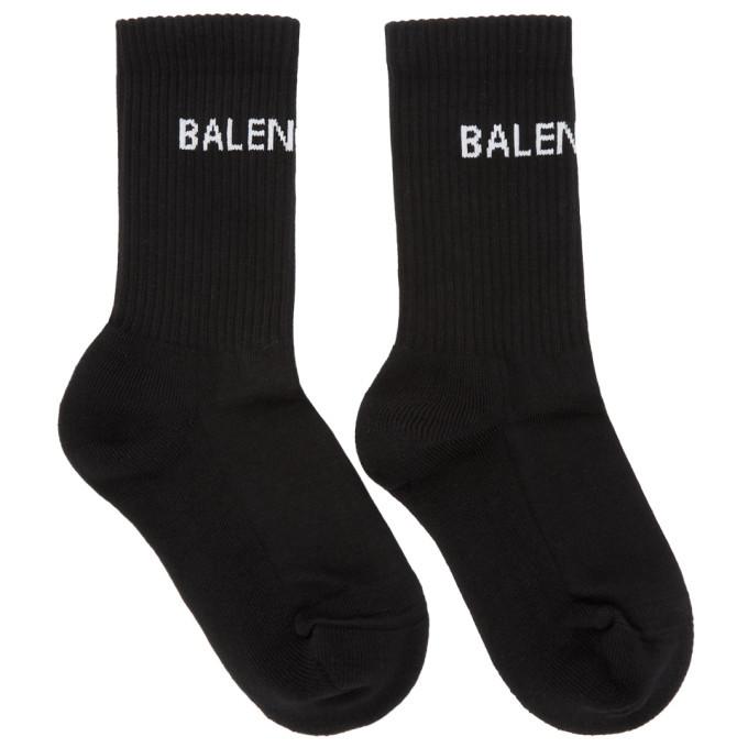 Balenciaga Black New Logo Tennis Socks