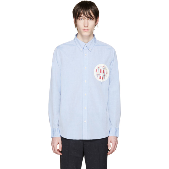 Photo: Visvim Blue Embroidered Pocket Shirt