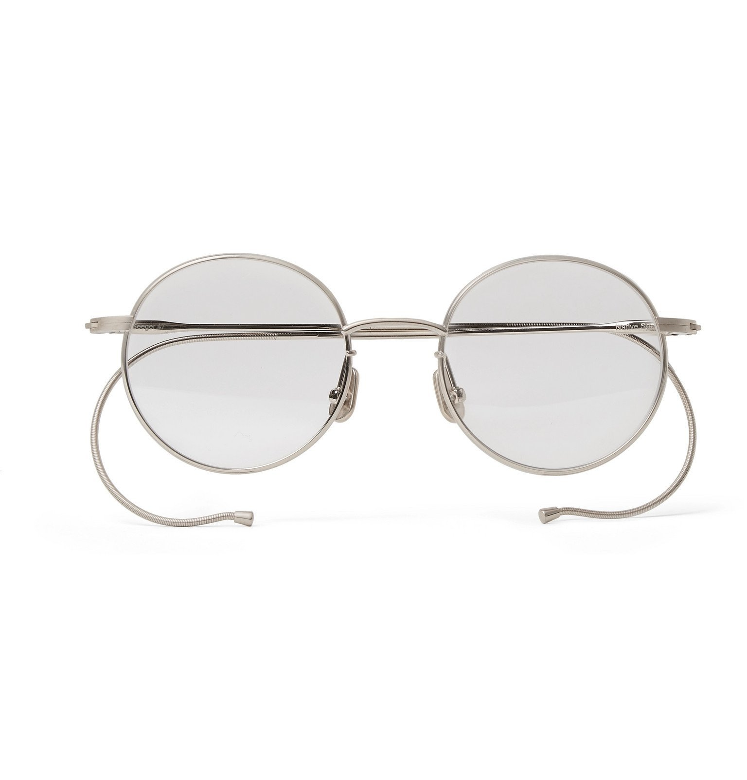 Photo: Native Sons - Seeger Round-Frame Silver-Tone Sunglasses - Silver