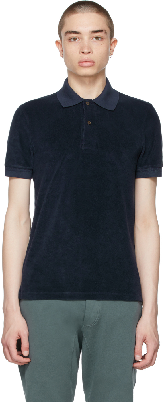 Photo: TOM FORD Navy Toweling Polo