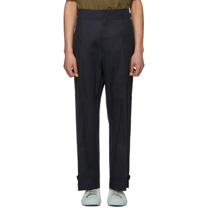Photo: Jil Sander Navy Pedro Buckle Trousers