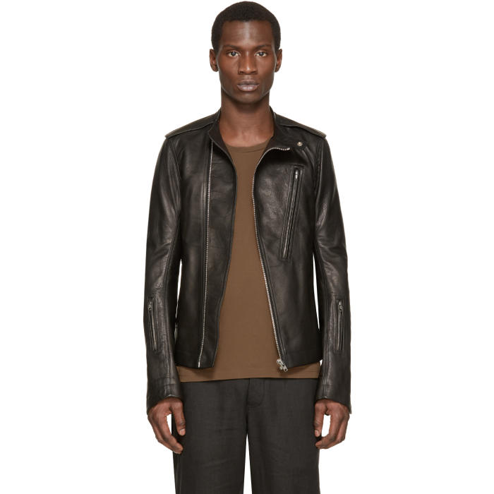 Photo: Rick Owens Black Leather Cyclops Biker Jacket