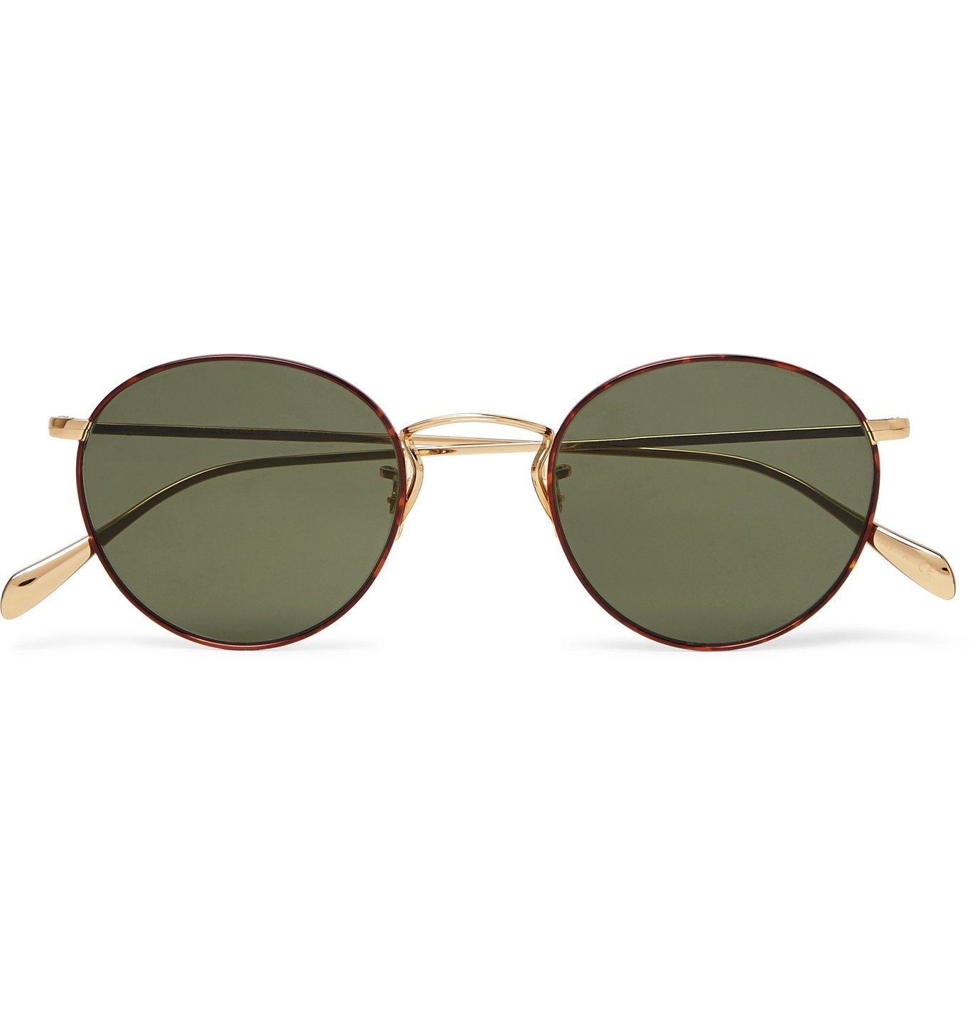 Oliver Peoples - Round-Frame Tortoiseshell Acetate and Gold-Tone Sunglasses - Gold