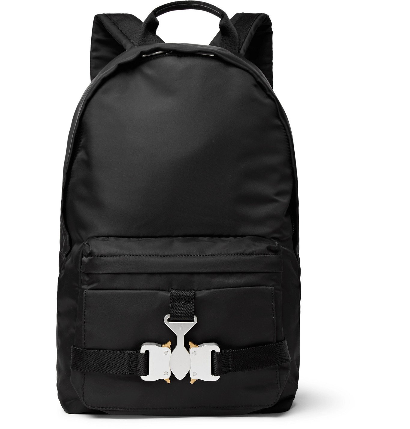 1017 ALYX 9SM - Tricon Leather-Trimmed Nylon Backpack - Black