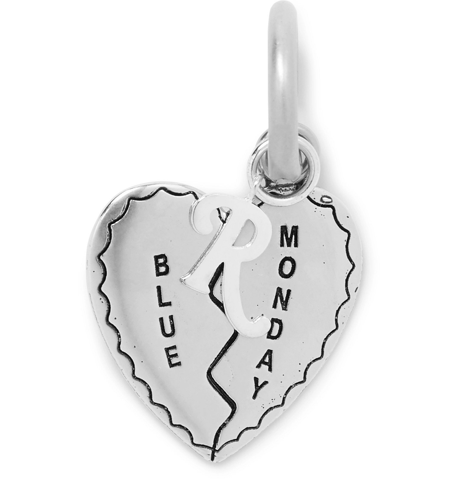 Raf Simons - Engraved Silver-Tone Charm - Silver
