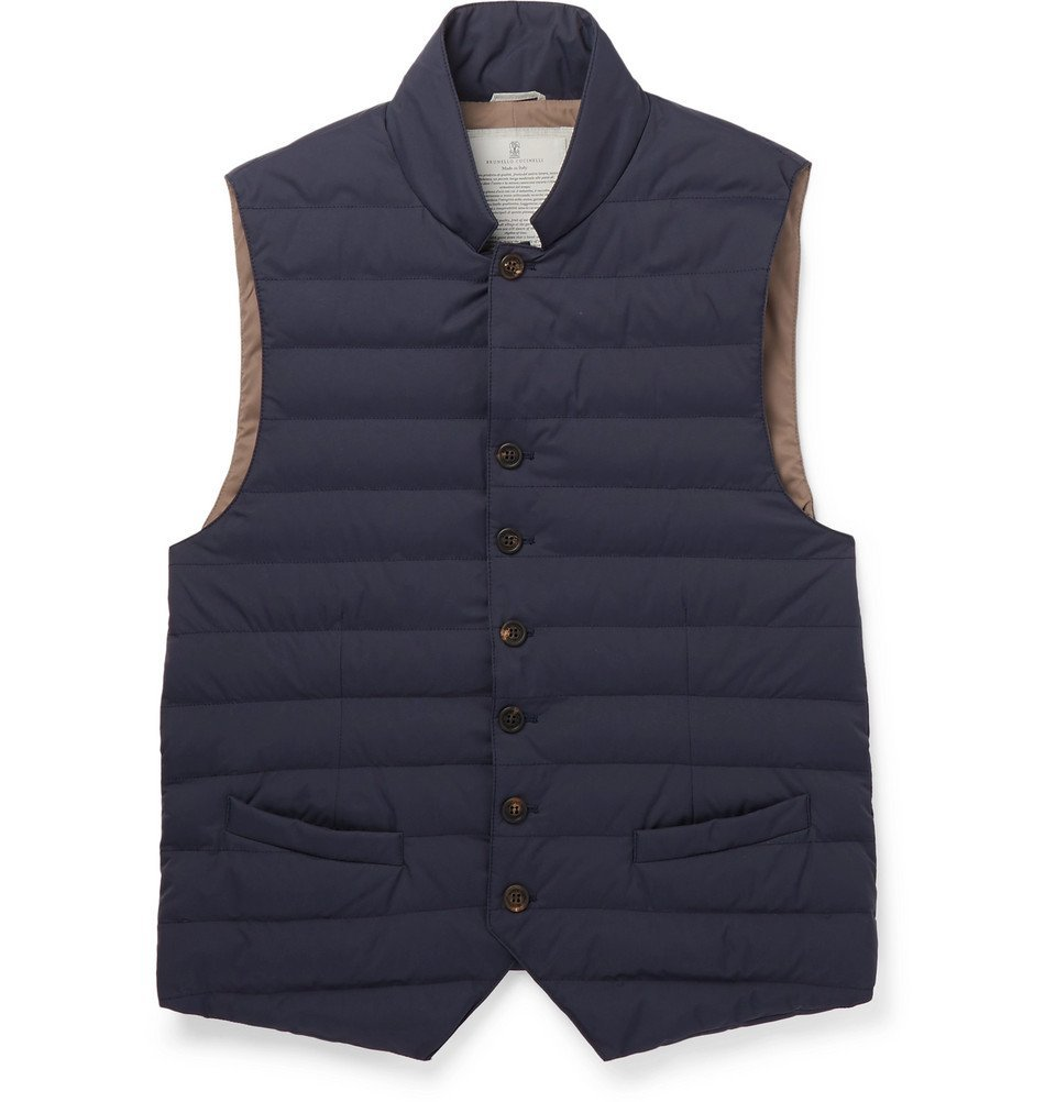 Photo: Brunello Cucinelli - Quilted Nylon Down Gilet - Blue