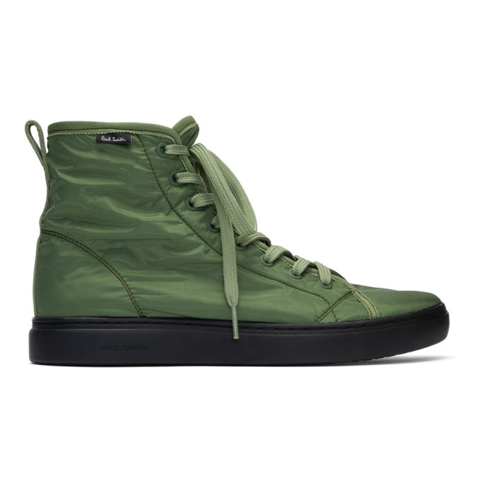Photo: PS by Paul Smith Green Dreyfuss High-Top Sneakers