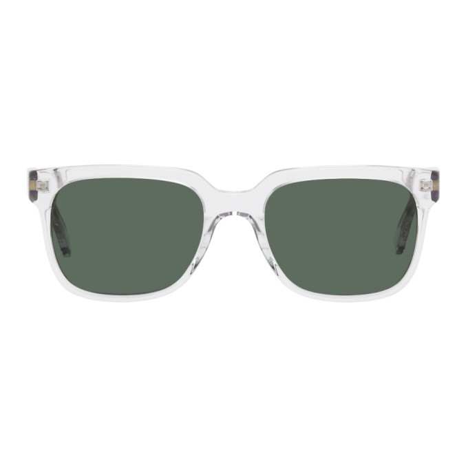 Photo: Axel Arigato Transparent and Green Jet Square Sunglasses