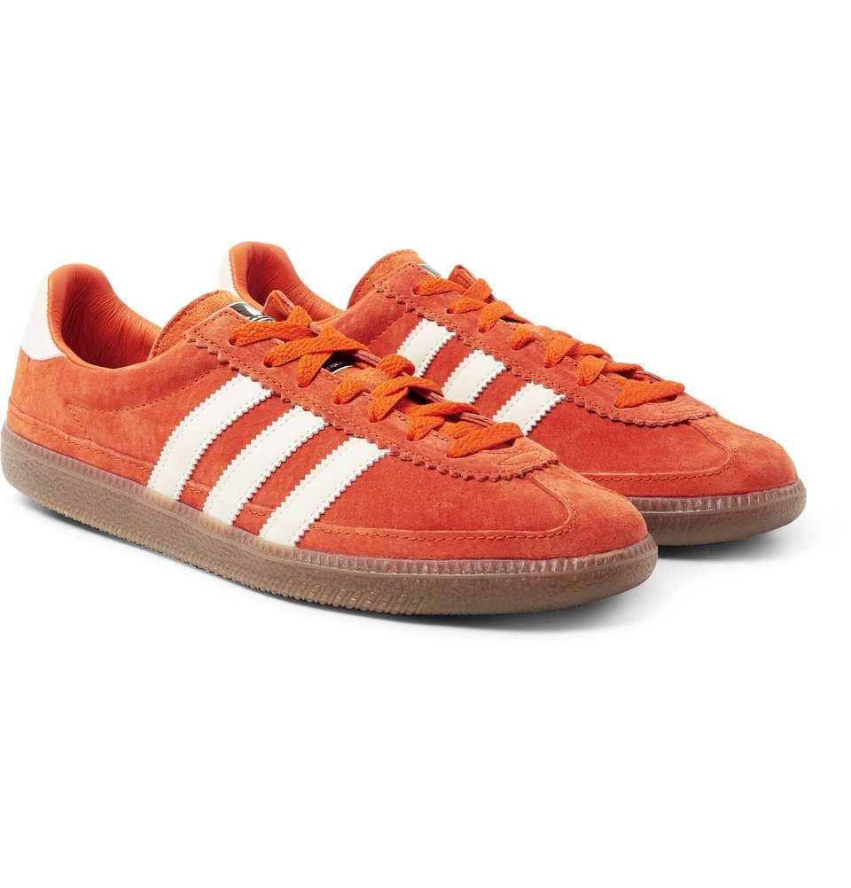 Photo: adidas Consortium - SPEZIAL Whalley Leather-Trimmed Suede Sneakers - Orange