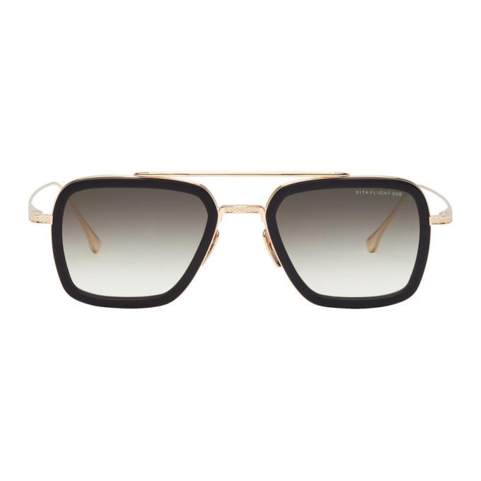 Photo: Dita Gold and Black Flight Sunglasses
