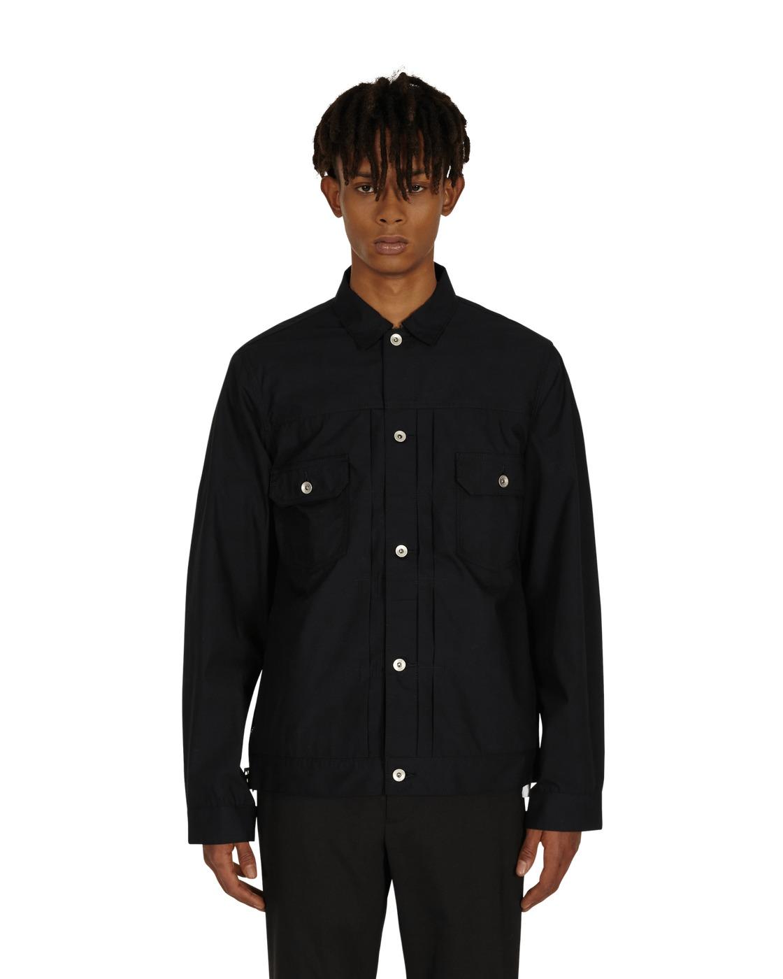 Photo: Sacai Poplin Shirt Black