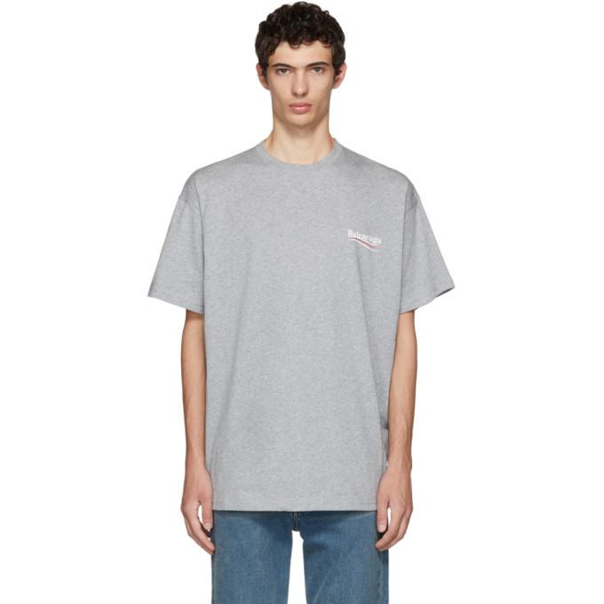 Balenciaga Grey Campaign Logo T-Shirt