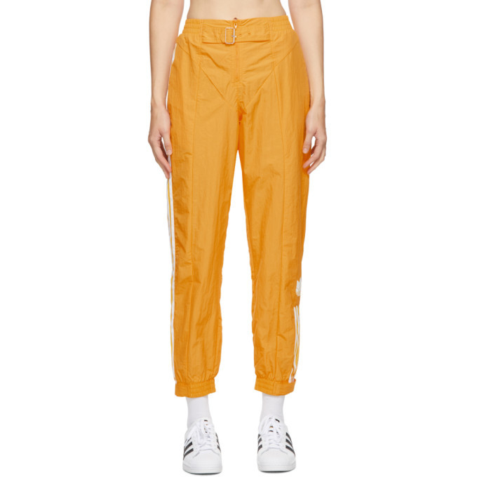Photo: adidas Originals Yellow Paolina Russo Edition Striped Track Pants