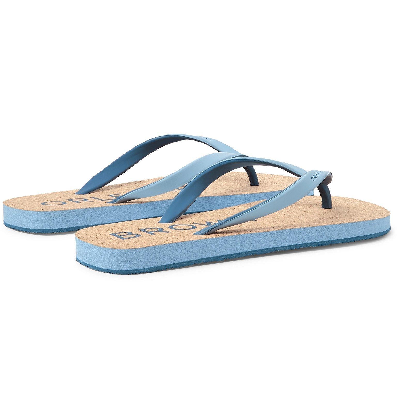 Orlebar Brown - Haston Rubber and Cork Flip Flops - Blue