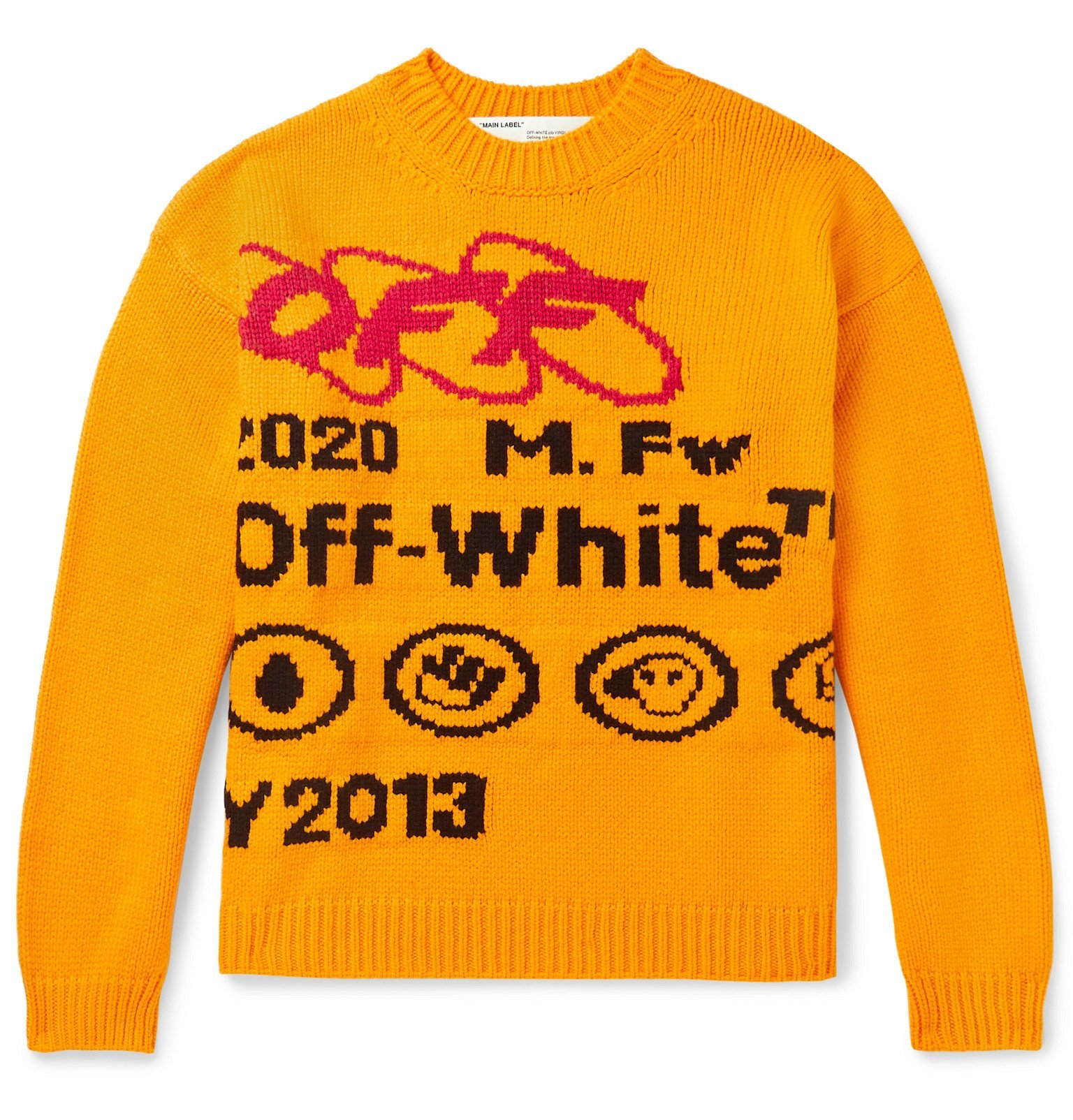 Photo: Off-White - Intarsia Wool-Blend Sweater - Yellow
