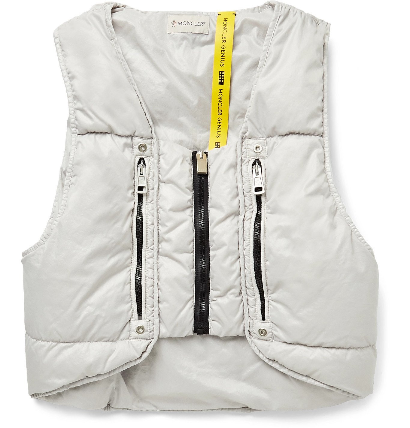 Photo: Moncler Genius - 6 Moncler 1017 ALYX 9SM Pettorina Quilted Nylon Down Gilet - Gray
