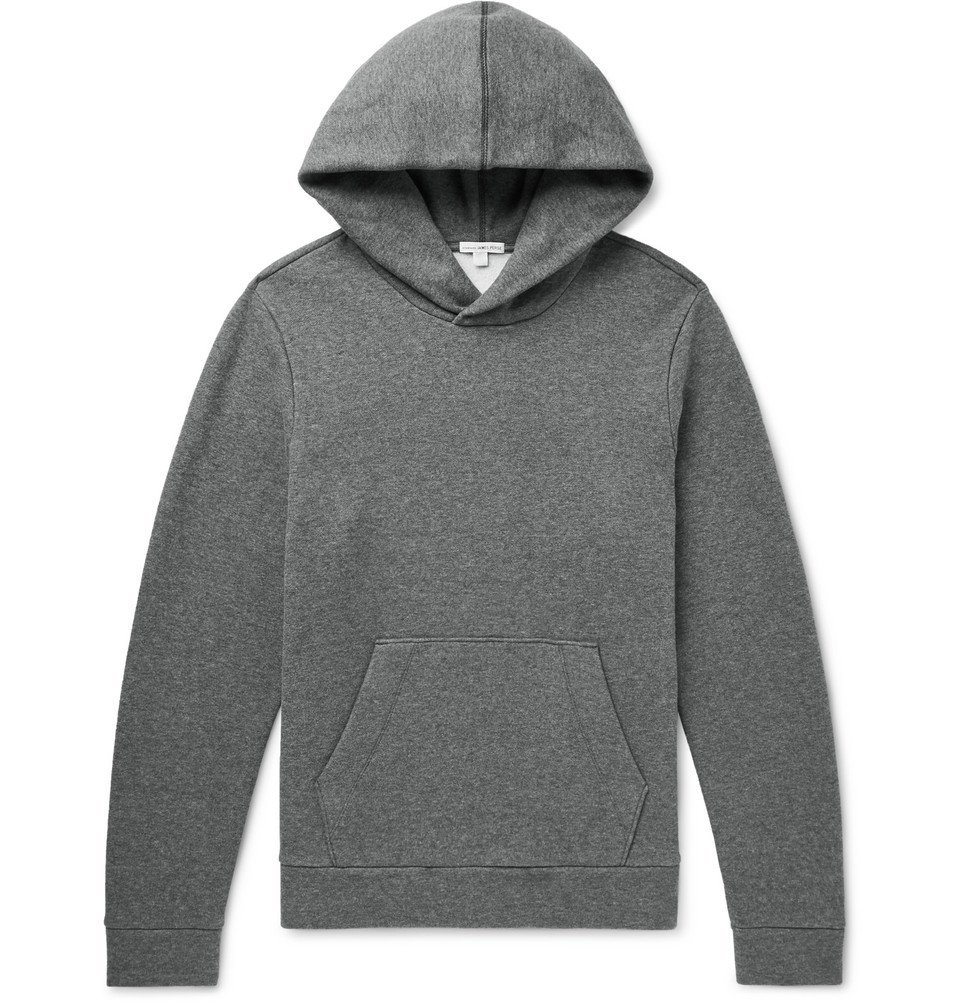 Photo: James Perse - Fleece-Back Cotton-Jersey Hoodie - Gray