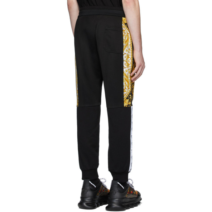 Versace Black Barocco Lounge Pants