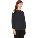 Nina Ricci Navy Sequin Cut-Out Sweatshirt