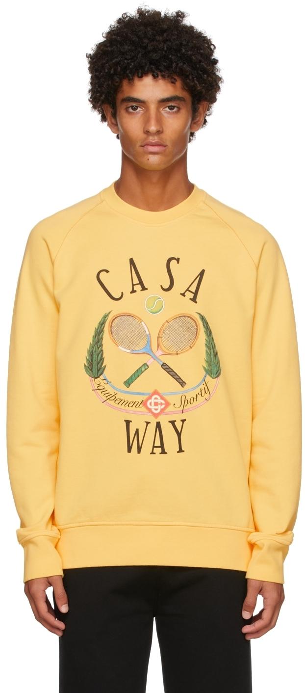 Photo: Casablanca Yellow Casa Way Tennis Club Sweatshirt