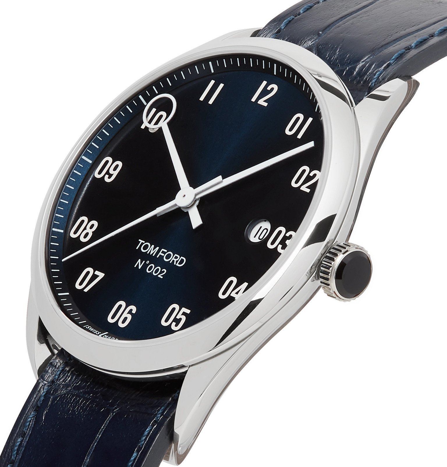Tom Ford Timepieces - 002 40mm Stainless Steel and Alligator Watch - Blue