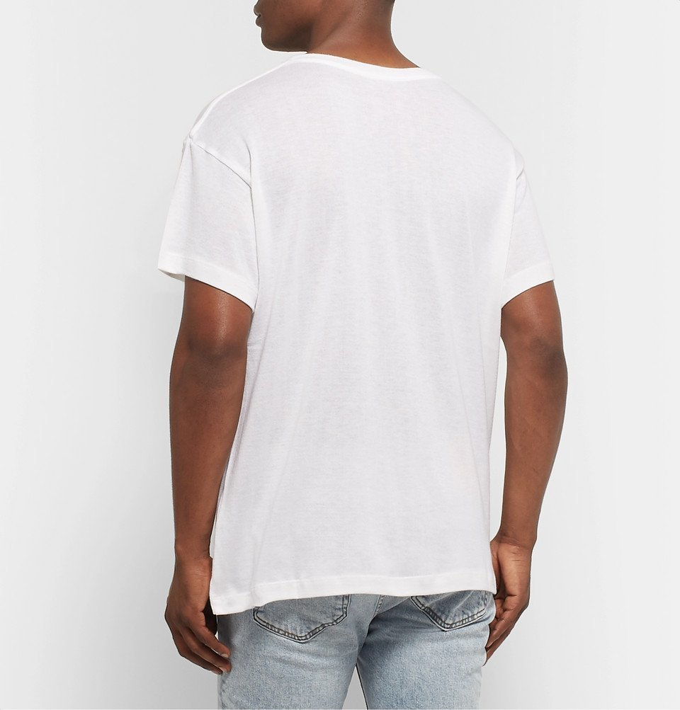 The Elder Statesman - Printed Cotton and Cashmere-Blend Jersey T-Shirt - White