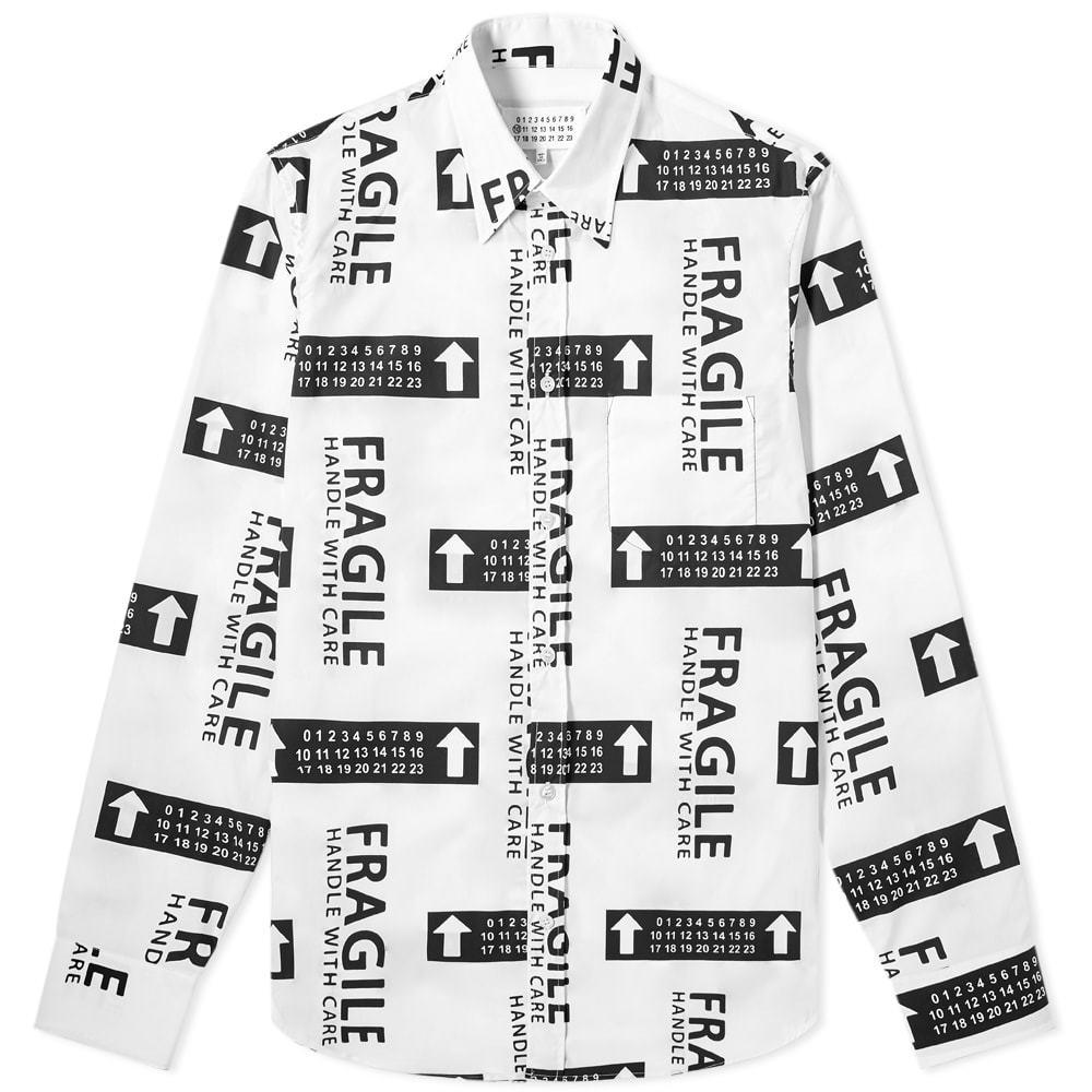 Photo: Maison Margiela 10 Fragile Print Shirt Black & White