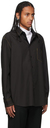 Yuki Hashimoto Black Contrast Stitch Shirt