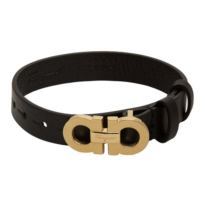 Photo: Salvatore Ferragamo Black Rigato Bracelet