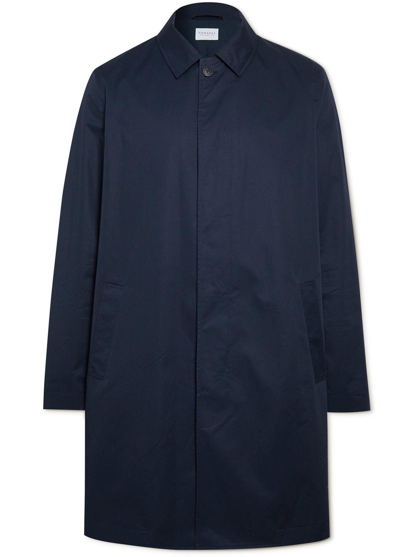 Photo: Sunspel - Cotton-Shell Raincoat - Blue