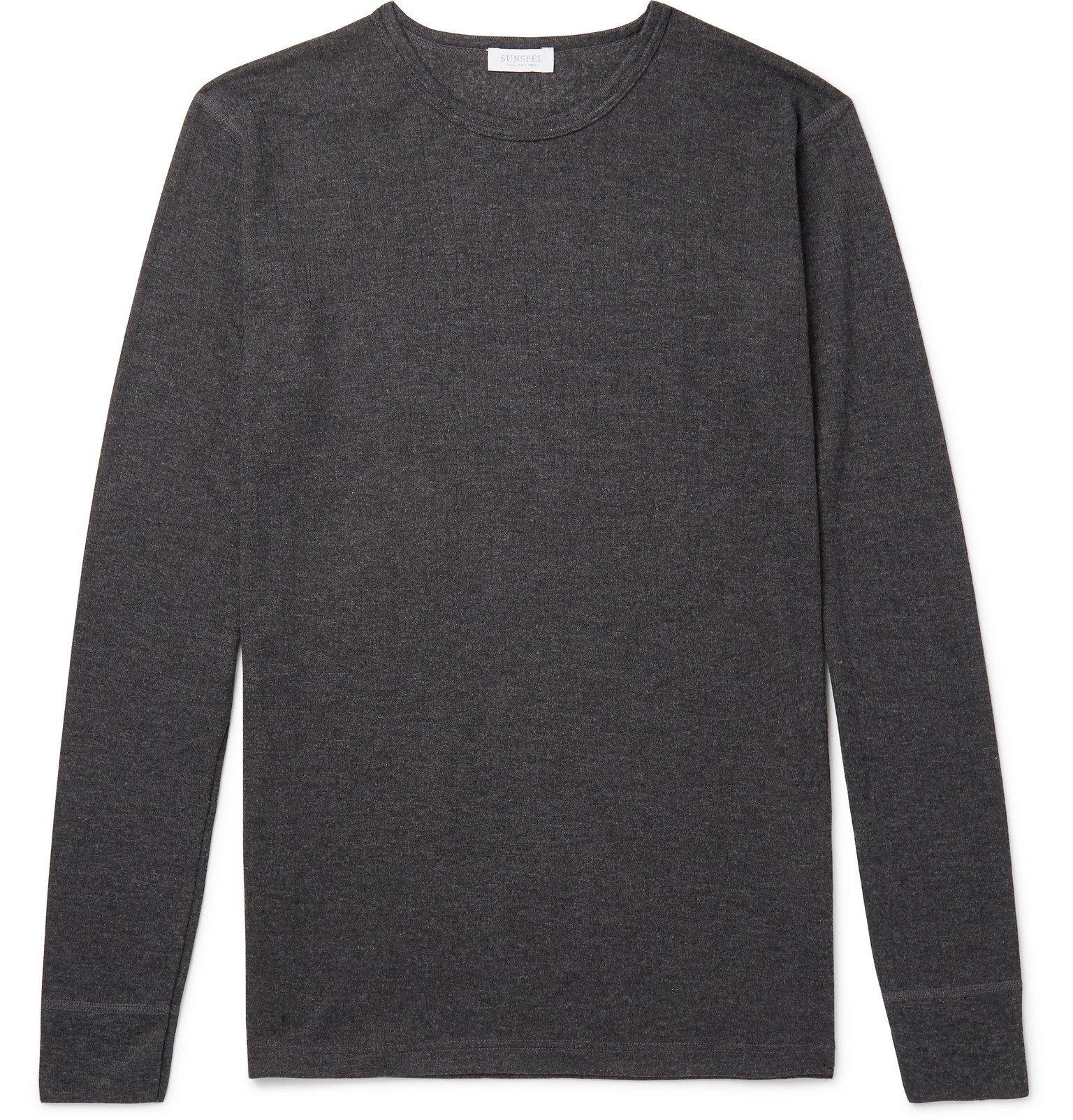 Sunspel - Thermal Jersey Pyjama T-Shirt - Gray