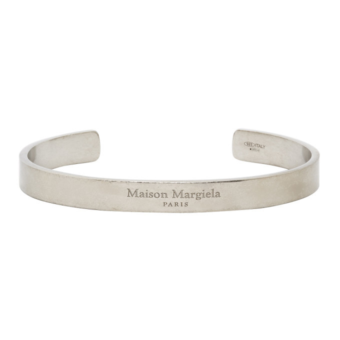 Photo: Maison Margiela Silver Logo Cuff Bracelet