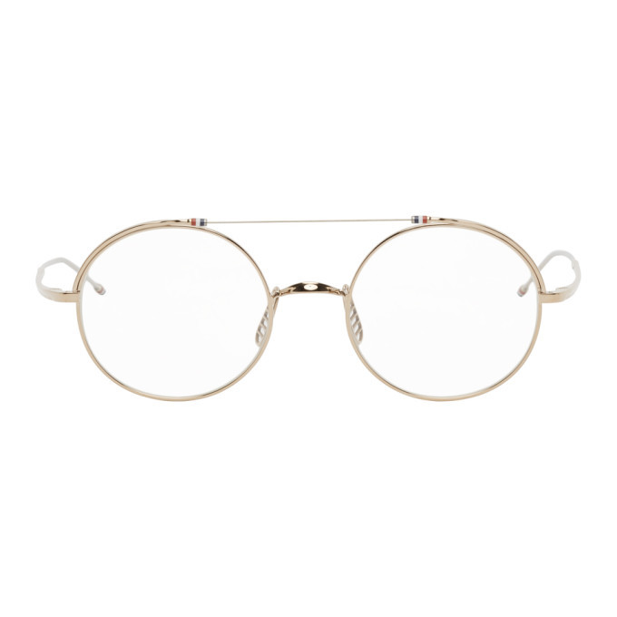 Photo: Thom Browne Gold TB910 Glasses