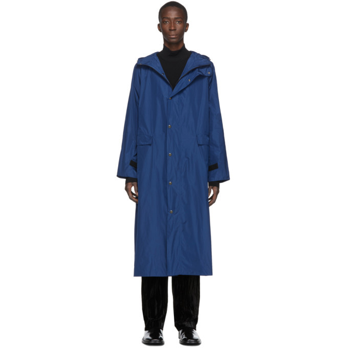 Photo: Kassl Editions Blue Taffeta Long Hooded Coat