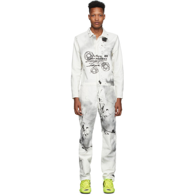 Photo: Off-White White Futura Edition Boiler Jumpsuit
