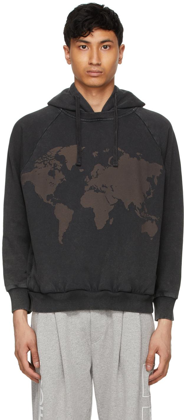 Photo: 4SDESIGNS Black World Map Hoodie