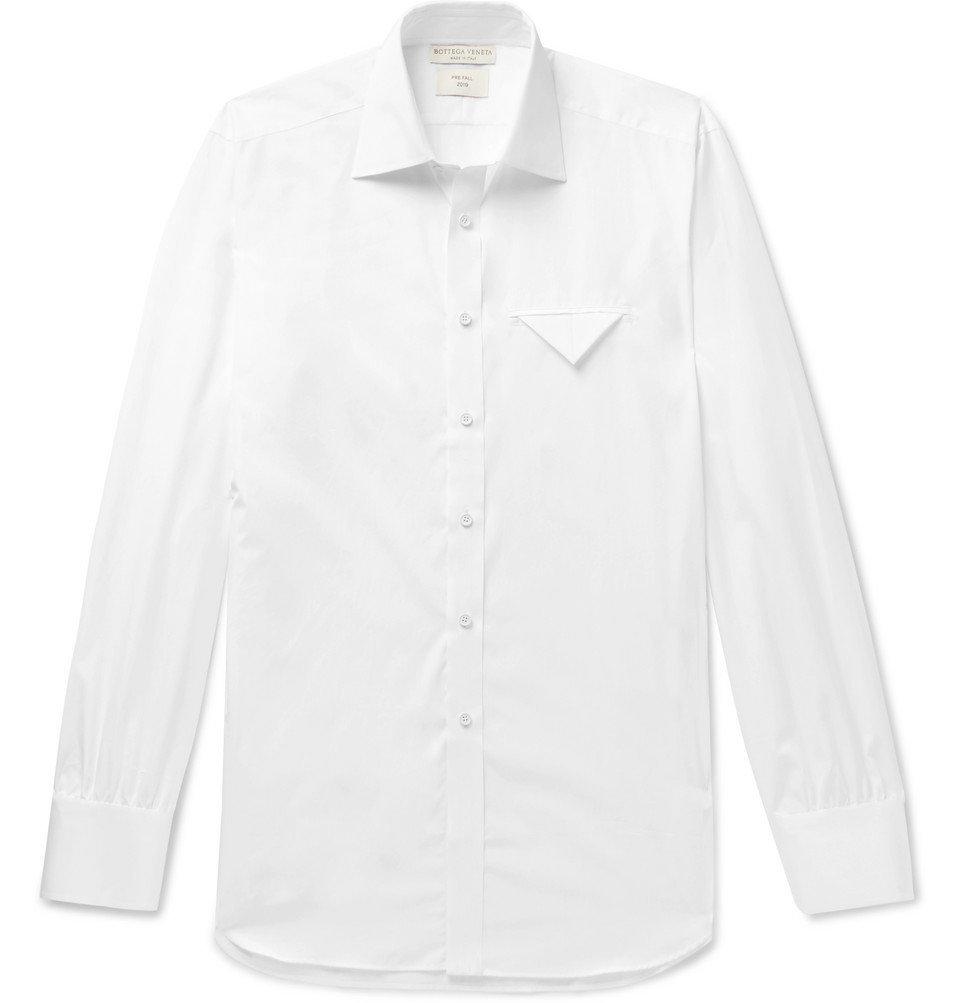 Photo: Bottega Veneta - Cotton-Poplin Shirt - White