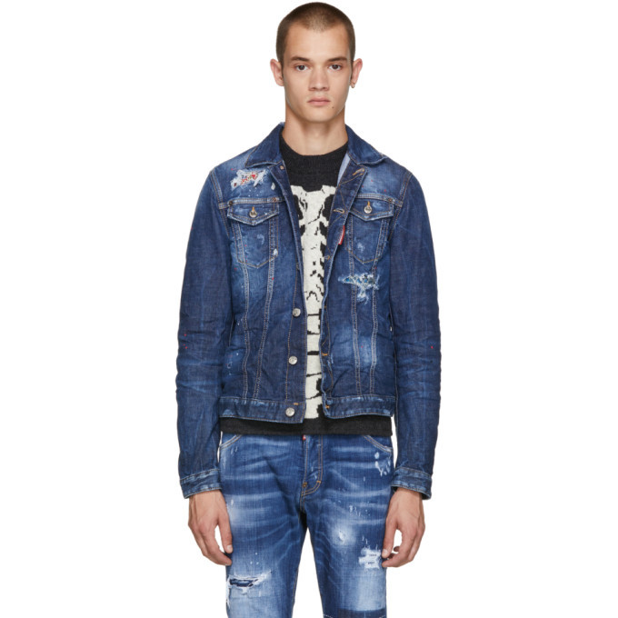 Photo: Dsquared2 Blue Contrast Denim Jacket