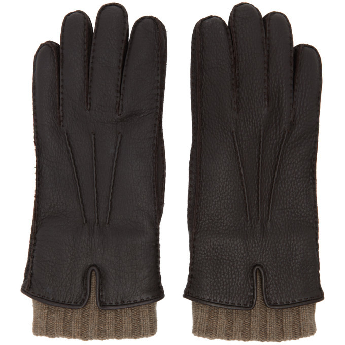 Photo: Loro Piana Brown Leather and Baby Cashmere Stirling Gloves