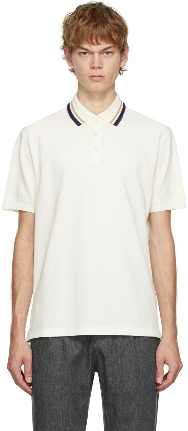 Photo: Brunello Cucinelli Off-White Cotton Polo