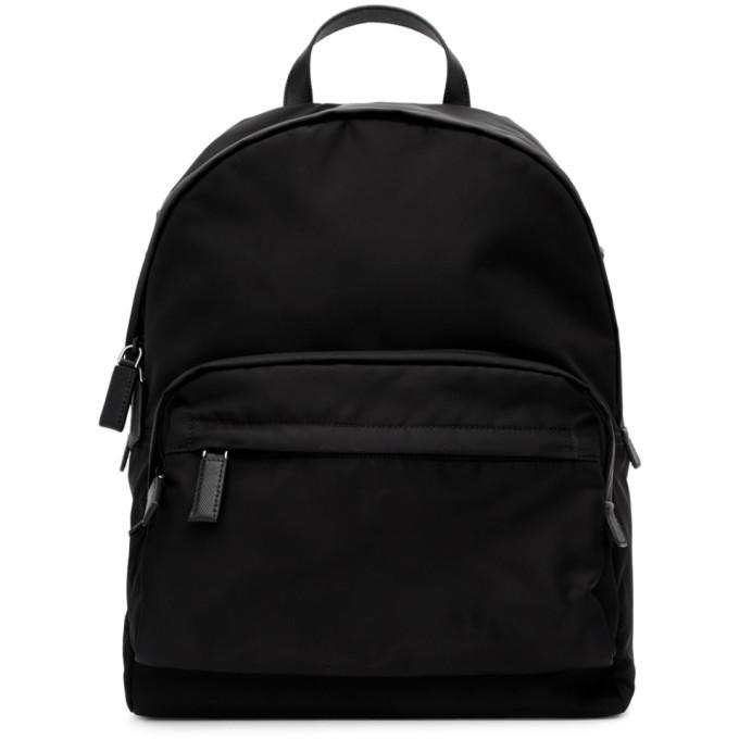 Photo: Prada Black Nylon Montagna Backpack