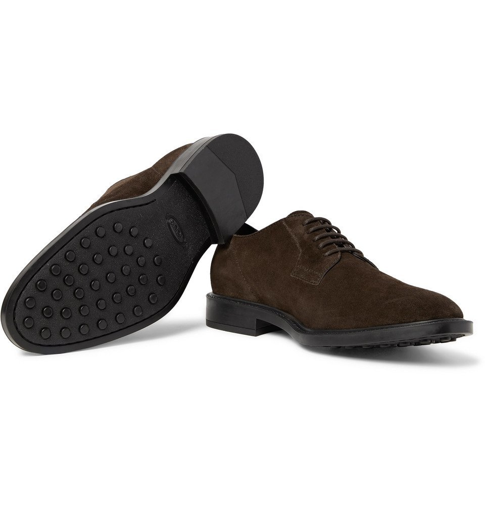 Tod's - Suede Derby Shoes - Men - Dark brown