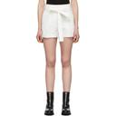 3.1 Phillip Lim White Belted High-Waist Shorts