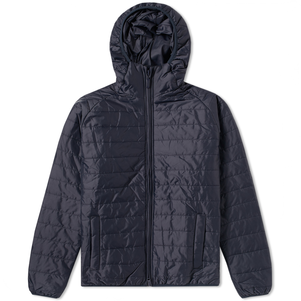 Photo: Barbour Intl Level Hooded Quilt Jacket Blue